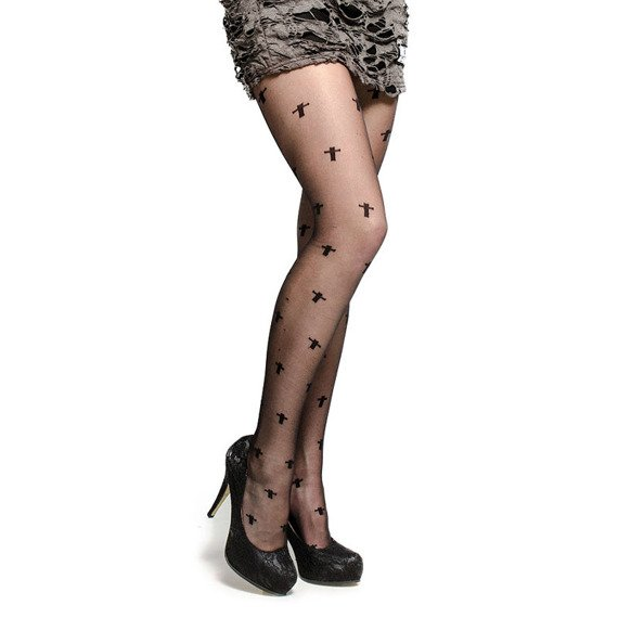 rajstopy SHEER CROSSES TIGHTS