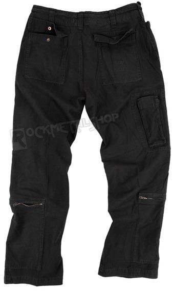 spodnie bojówki FLIEGERHOSE COTTON PREWASH SCHWARZ