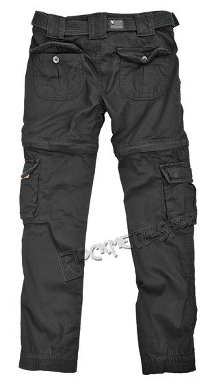 spodnie bojówki damskie LADIES TREKKING PREMIUM SCHWARZ, odpinane