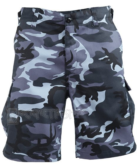 spodnie bojówki krótkie COMBAT SHORTS - SKYBLUE