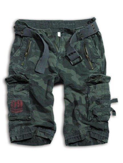 spodnie bojówki krótkie ROYAL SHORT - black camo