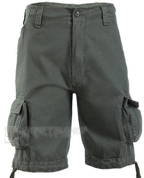 spodnie bojówki krótkie URBAN LEGEND SHORTS - OLIV