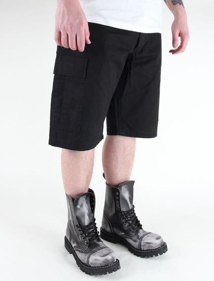 spodnie bojówki krótkie US BERMUDA RIP-STOP COTTON SCHWARZ