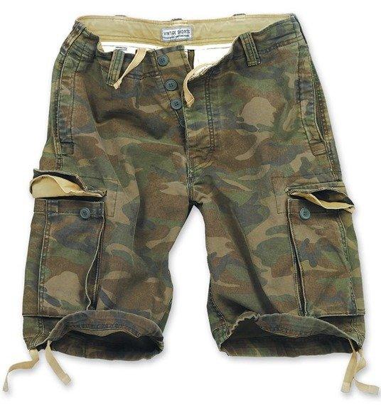 spodnie bojówki krótkie VINTAGE WOODLAND
