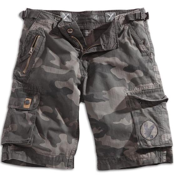 spodnie bojówki krótkie XYLONTUM SHORTS BLACK CAMO