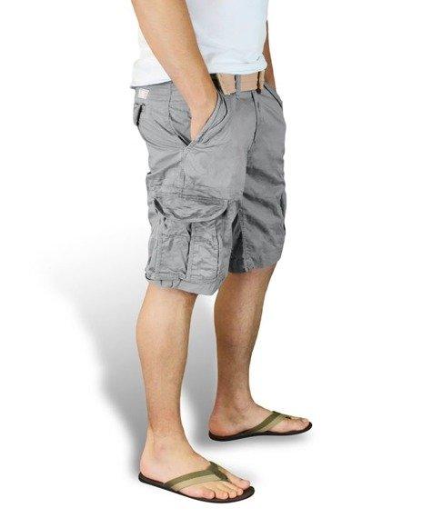 spodnie bojówki krótkie XYLONTUM VINTAGE SHORTS GRAY