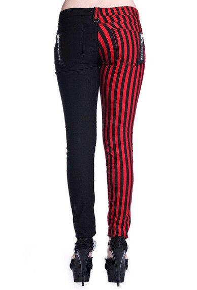 spodnie damskie BANNED - RED STRIPES
