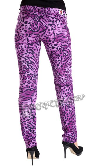 spodnie damskie CLOSE PANTS LEO purple
