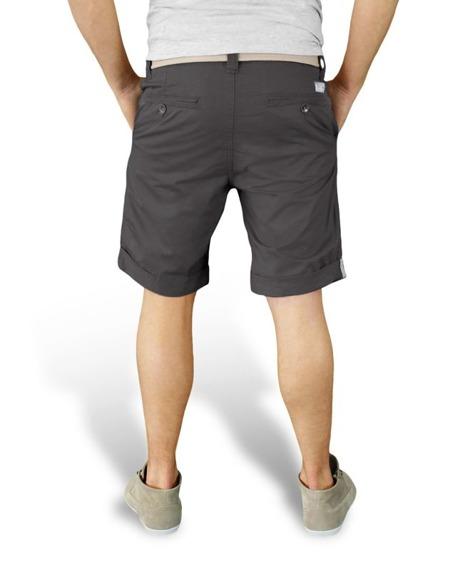 spodnie krótkie XYLONTUM CHINO SHORTS ANTHRACITE