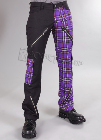 spodnie unisex FREAK PANTS TARTAN PURPLE