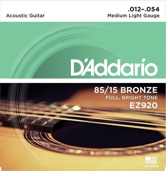 struny do gitary akustycznej D'ADDARIO EZ920 /012-054/