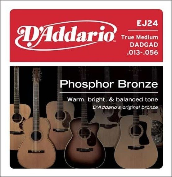 struny do gitary akustycznej D'ADDARIO - PHOSPHOR BRONZE / TRUE MEDIUM EJ24 /013-056/