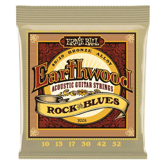 struny do gitary akustycznej ERNIE BALL Earthwood 80/20 Bronze EB2008 /010-052/