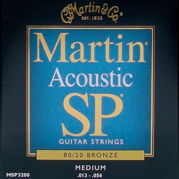 struny do gitary akustycznej MARTIN MSP3200 - 80/20 BRONZE Medium /013-056/