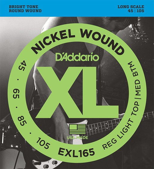 struny do gitary basowej D'ADDARIO EXL165 /045-105/