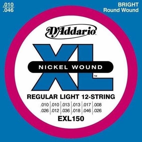 struny do gitary elektrycznej 12str. D'ADDARIO Regular Light EXL150 /010-046/