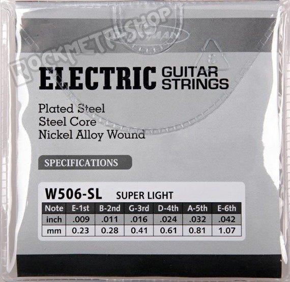 struny do gitary elektrycznej CRAFTMAN NICKEL WOUND W506-SL /009-042/