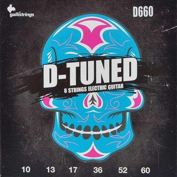 struny do gitary elektrycznej GALLI STRINGS - D-TUNED D660 obniżony strój /010-060/