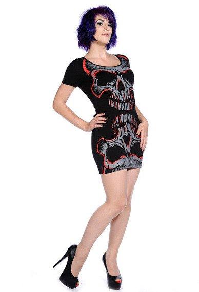 sukienka BANNED - SKULL