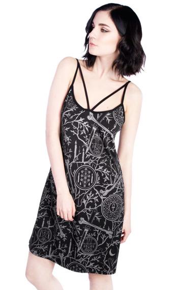 sukienka DISTURBIA - FOREST SLIP