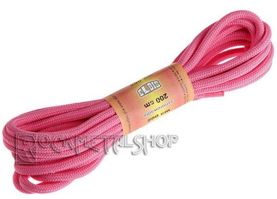 sznurowadła okrągłe RÓŻOWE (200k)