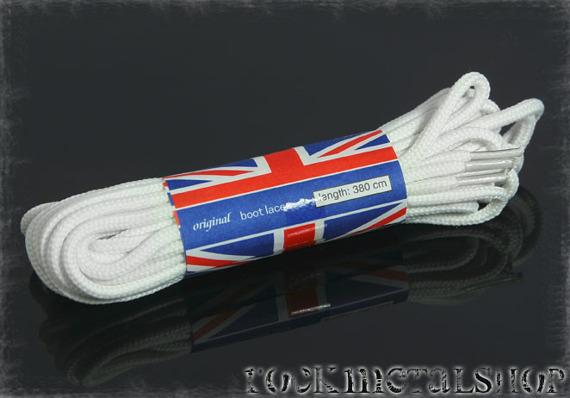 sznurówki BIAŁE U.K. - 380cm (70-9225-06)