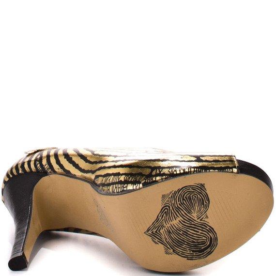 szpilki IRON FIST - HANDS OFF PLATFORM (GOLD)