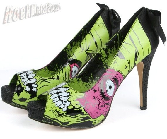 szpilki IRON FIST (Zombie Stomper Heel) (ELECTRIC BLUE) \