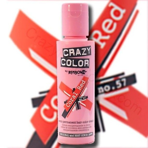 toner do włosów CRAZY COLOR - CORAL RED [057]