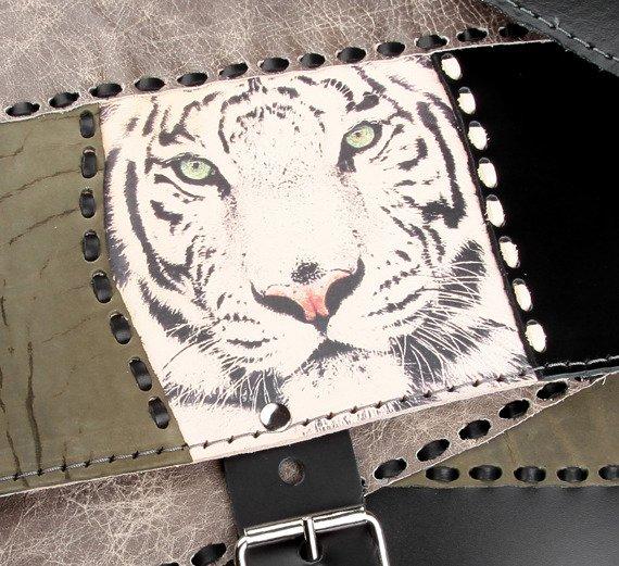 torba skórzana WHITE TIGER