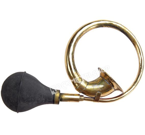 trąbka sygnałowa mała BELCANTO RH-BU-S zakręcona, z mosiądzu, 25cm