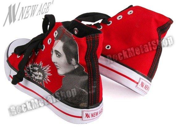 trampki NEW AGE - ELVIS: RED/BLACK
