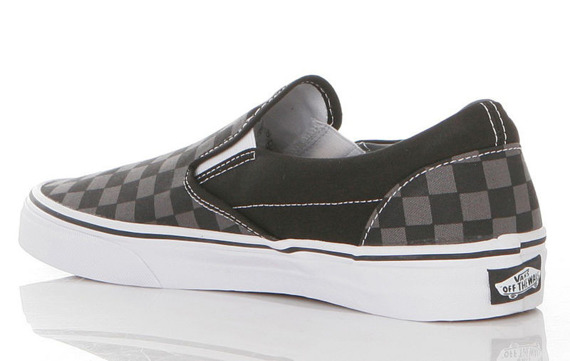 trampki VANS - CLASSIC SLIP ON BLACK PEWTER CHECKERBOARD