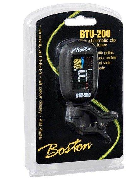 tuner uniwersalny BOSTON BTU-200 chromatyczny, na klips
