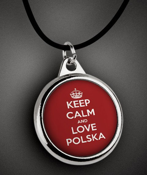 wisior KEEP CALM AND LOVE POLSKA