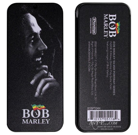 zestaw kostek BOB MARLEY - SILVER (BOB-PT04H)