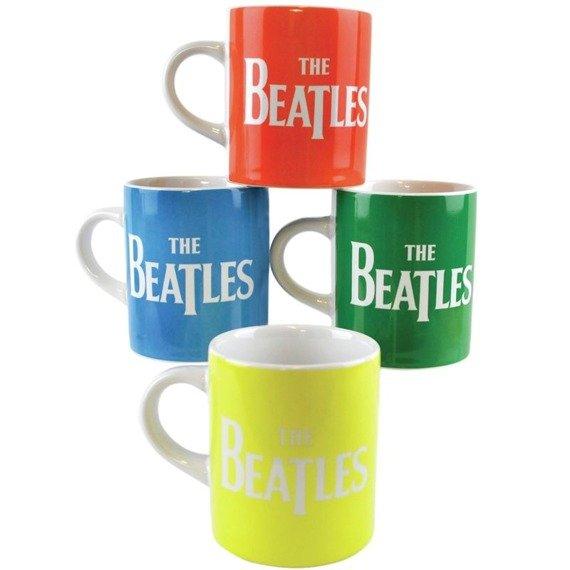zestaw kubków THE BEATLES - FOUR COLORS mini espresso 100 ml